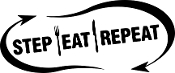 Step Eat Repeat Car Window Decal